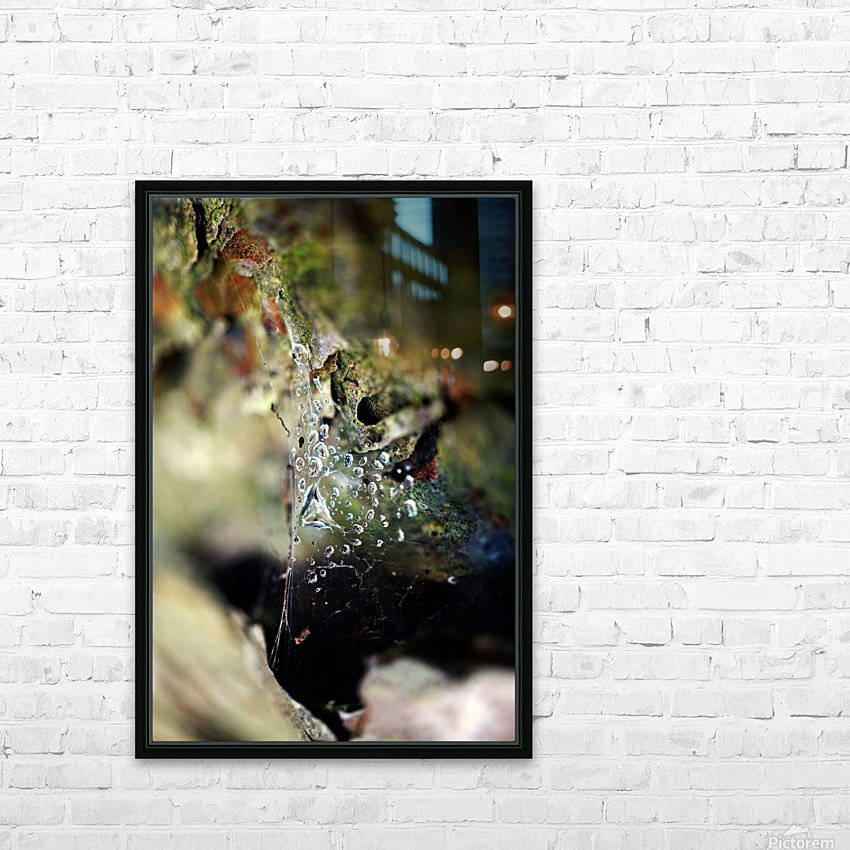 Macro Raindrop Photography Art 05 HD Sublimation Metal print with Decorating Float Frame (BOX)