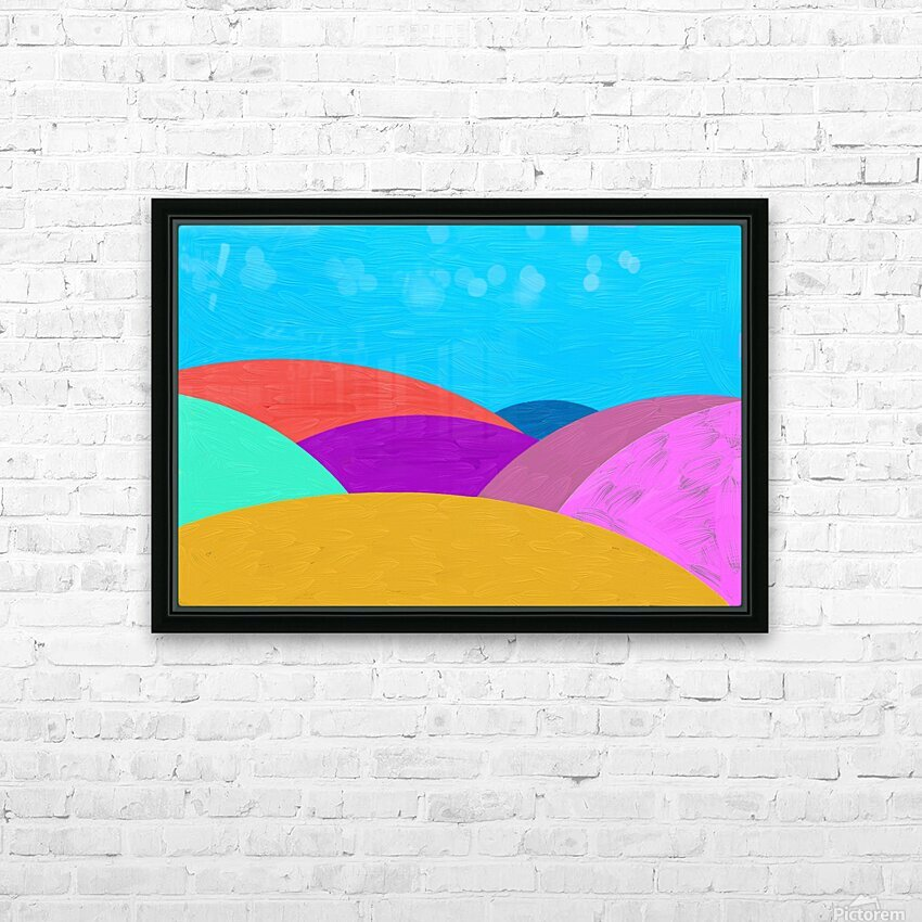 Fabulous hills HD Sublimation Metal print with Decorating Float Frame (BOX)