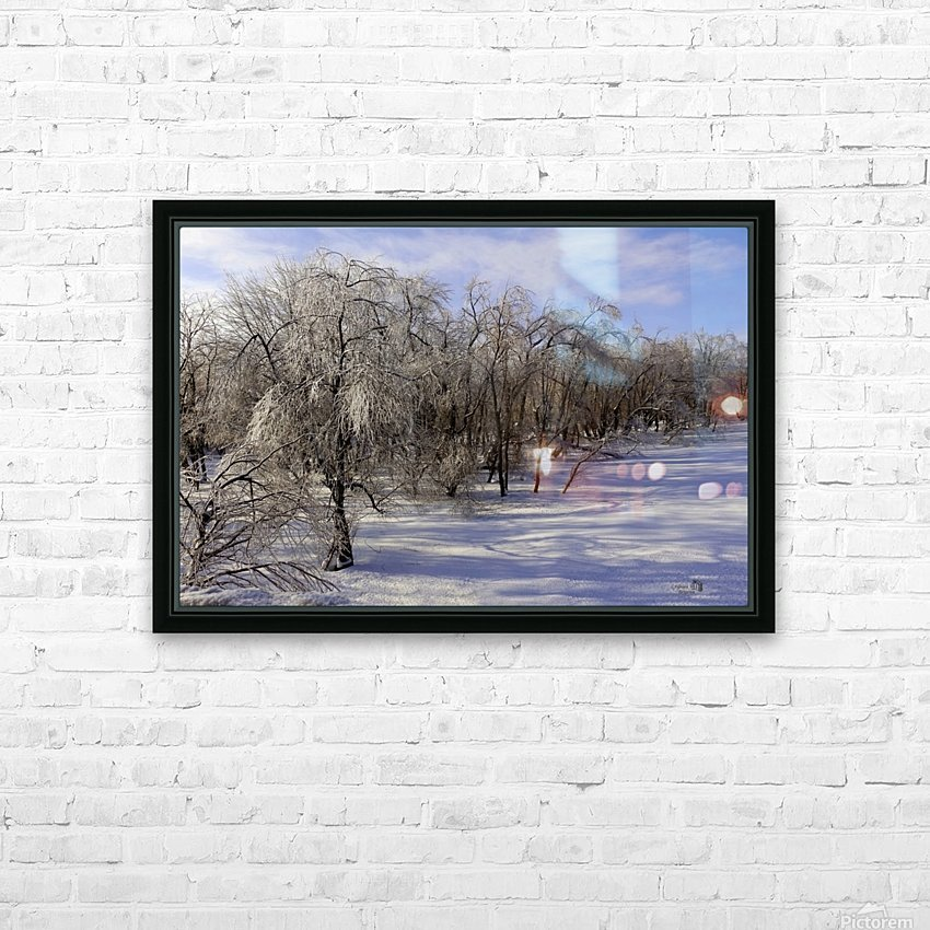 Matin glacé- Iced morning HD Sublimation Metal print with Decorating Float Frame (BOX)
