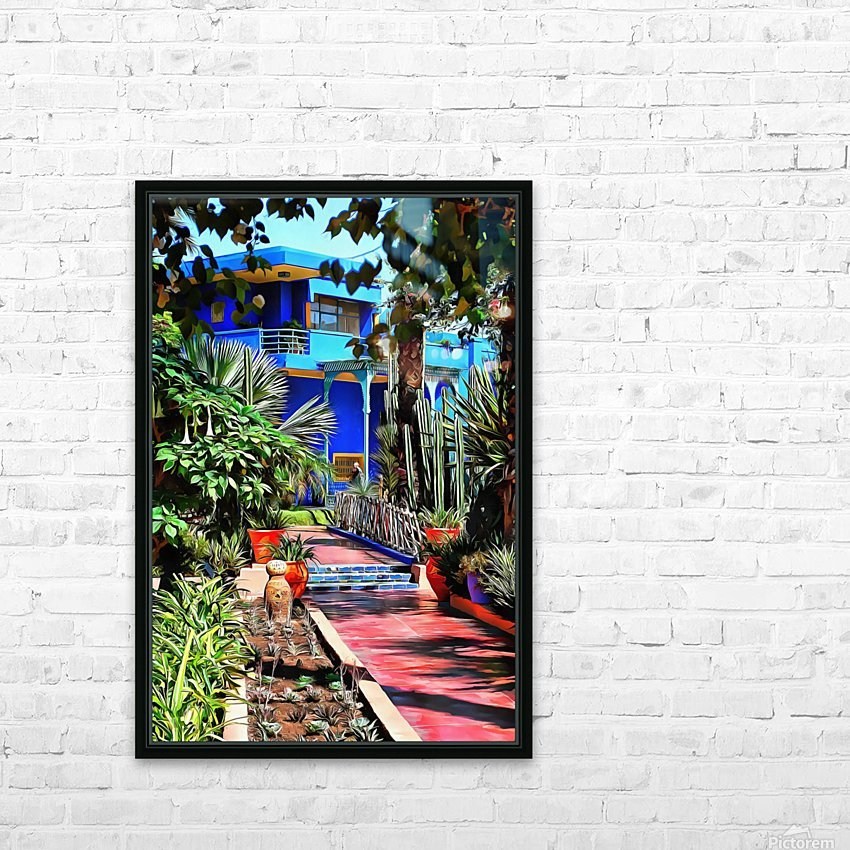 Approach To Cubist Villa Jardin Majorelle HD Sublimation Metal print with Decorating Float Frame (BOX)