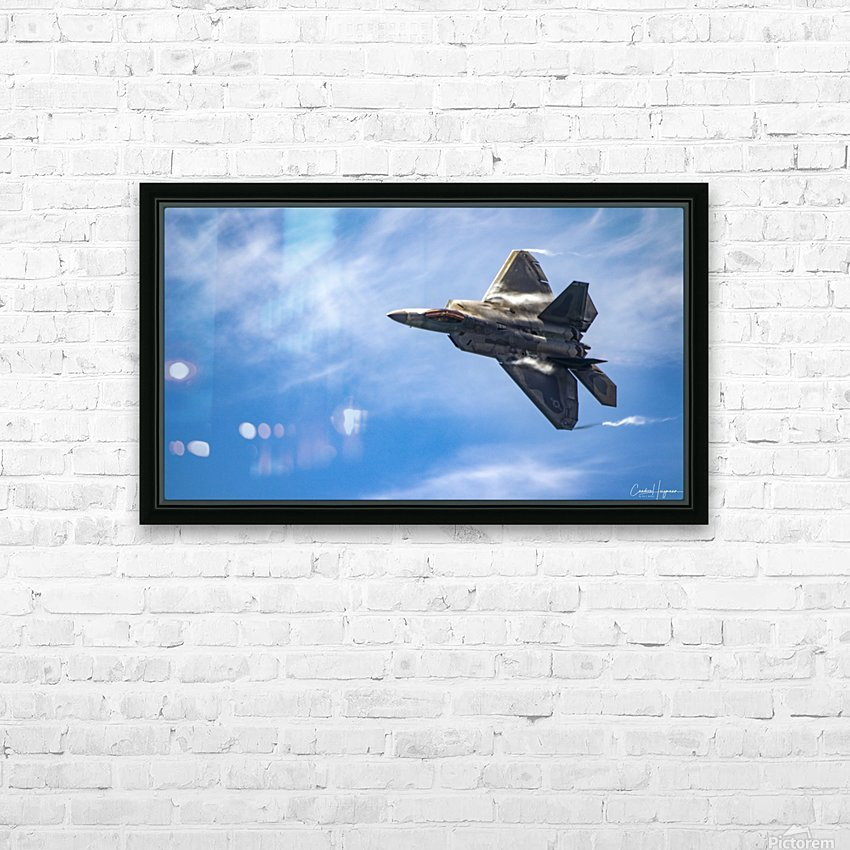 F-22 raptor HD Sublimation Metal print with Decorating Float Frame (BOX)