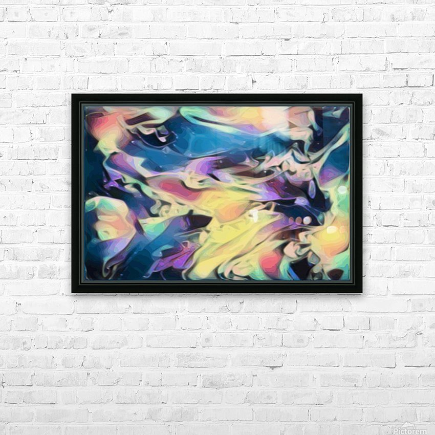 Smooth Brandy - multicolor abstract swirl wall art HD Sublimation Metal print with Decorating Float Frame (BOX)