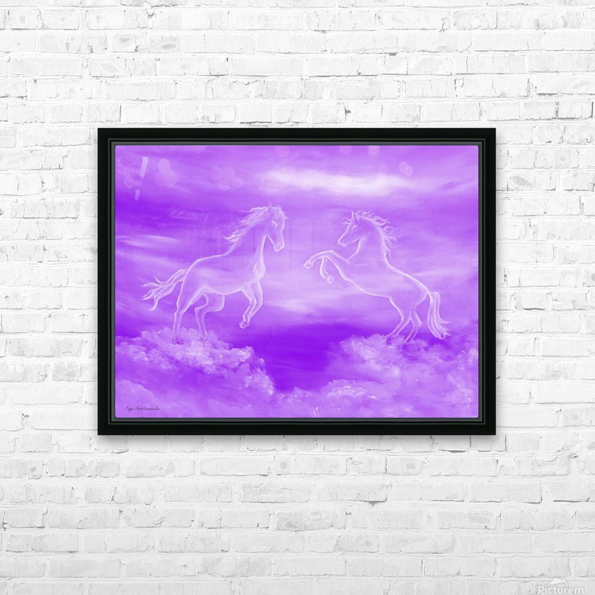 Spirit Horses HD Sublimation Metal print with Decorating Float Frame (BOX)