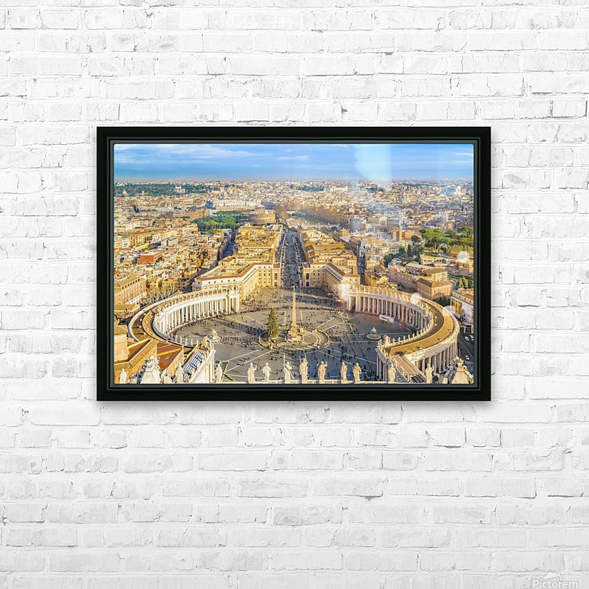 24996996 rome aerial view from saint peter basilica viewpoint HD Sublimation Metal print with Decorating Float Frame (BOX)
