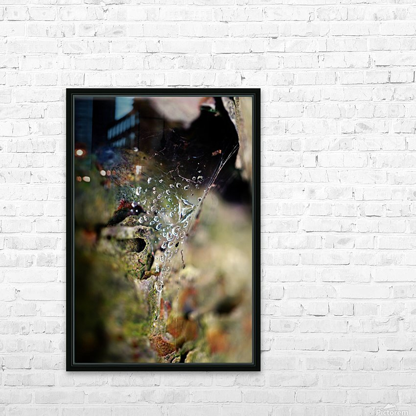 Macro Raindrop Photography Art 44 HD Sublimation Metal print with Decorating Float Frame (BOX)