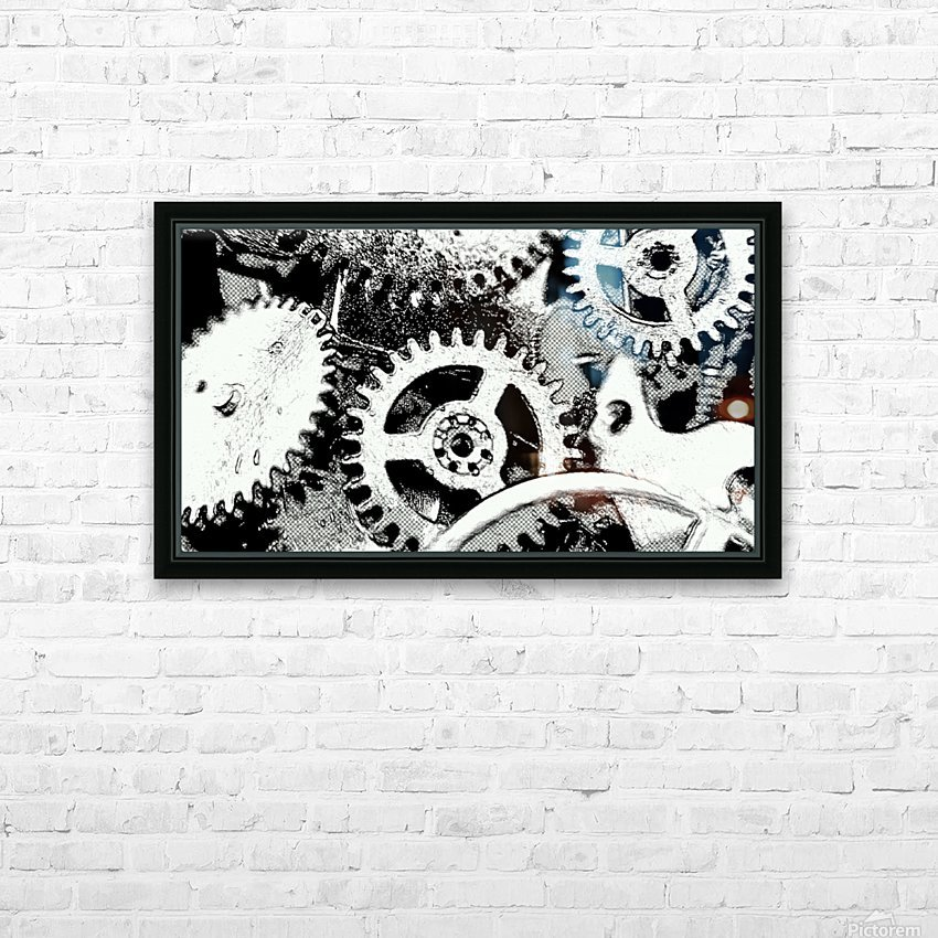 Gear Space HD Sublimation Metal print with Decorating Float Frame (BOX)