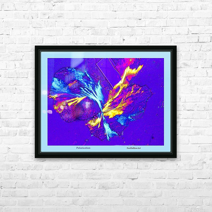 Polarization - Taken With High Powered Microscope HD Sublimation Metal print with Decorating Float Frame (BOX)