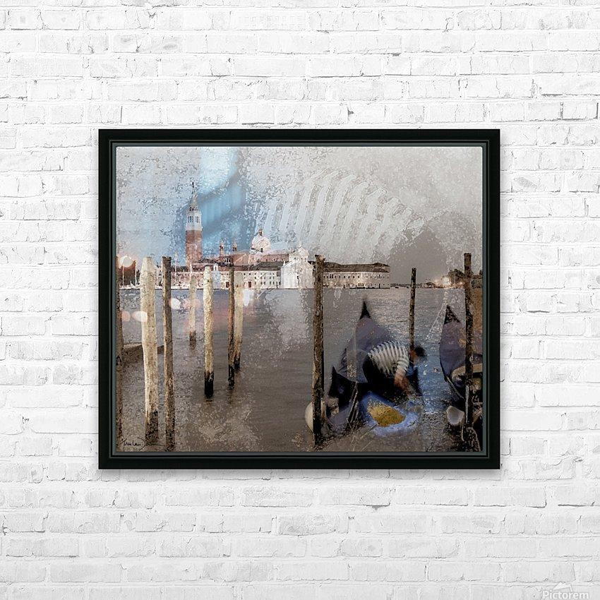 Venise le gondolier HD Sublimation Metal print with Decorating Float Frame (BOX)