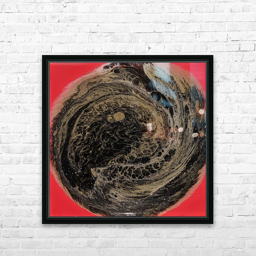 Fire Galaxy HD Sublimation Metal print with Decorating Float Frame (BOX)