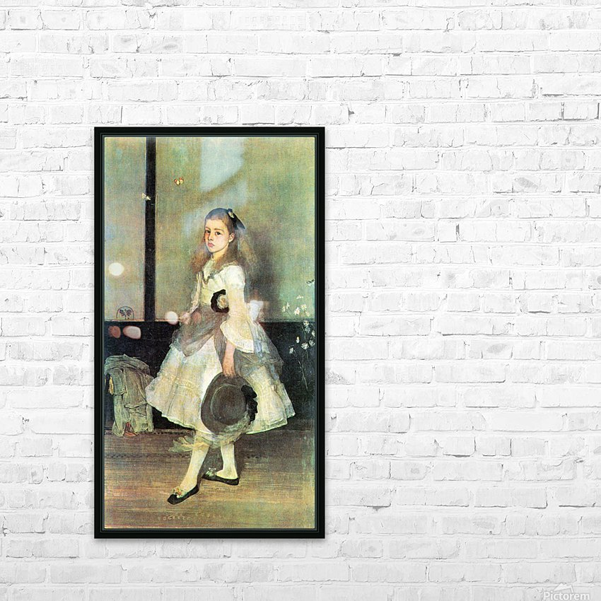 Portrait of Miss Alexander by James Abbot McNeill Whistler HD Sublimation Metal print with Decorating Float Frame (BOX)