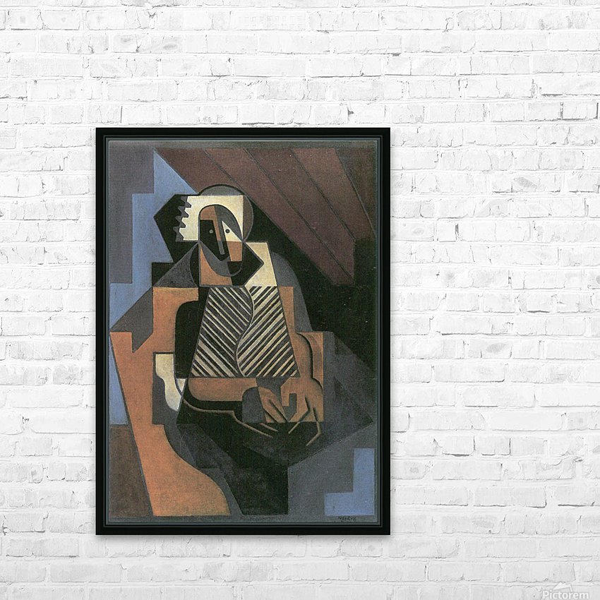 Sitting peasant woman by Juan Gris HD Sublimation Metal print with Decorating Float Frame (BOX)