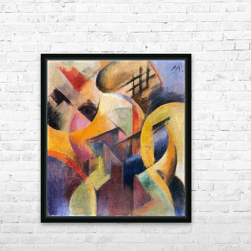 Small composition I by Franz Marc HD Sublimation Metal print with Decorating Float Frame (BOX)