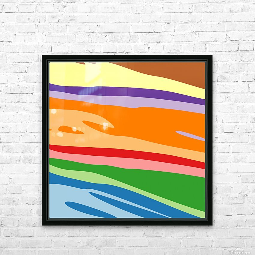 Cool Design (39) HD Sublimation Metal print with Decorating Float Frame (BOX)
