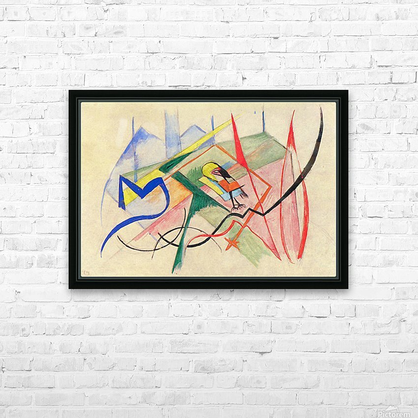 Small mythical creatures by Franz Marc HD Sublimation Metal print with Decorating Float Frame (BOX)