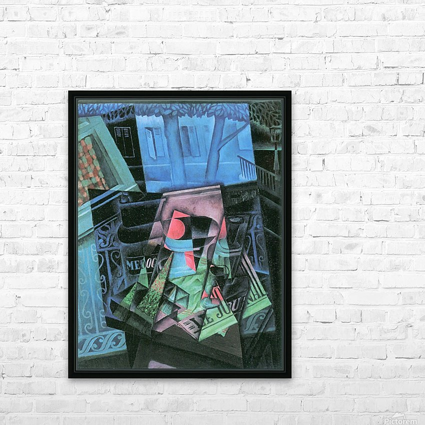 Still life and urban landscape (Place Ravignan) by Juan Gris HD Sublimation Metal print with Decorating Float Frame (BOX)