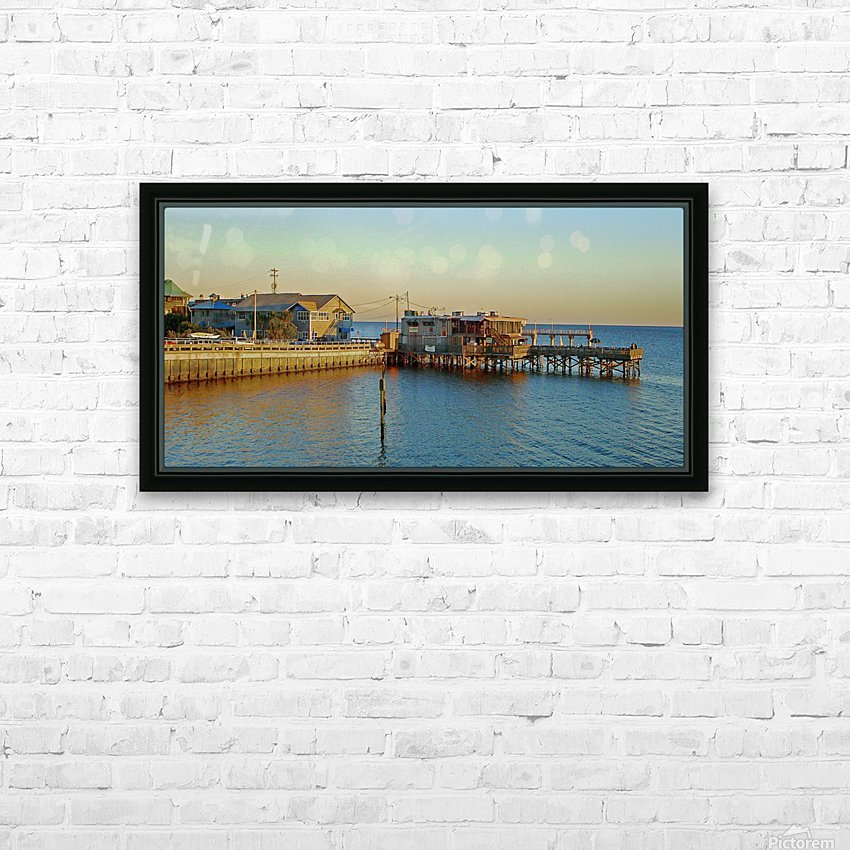 Cedar Key Florida - Sunset On The Wharf HD Sublimation Metal print with Decorating Float Frame (BOX)