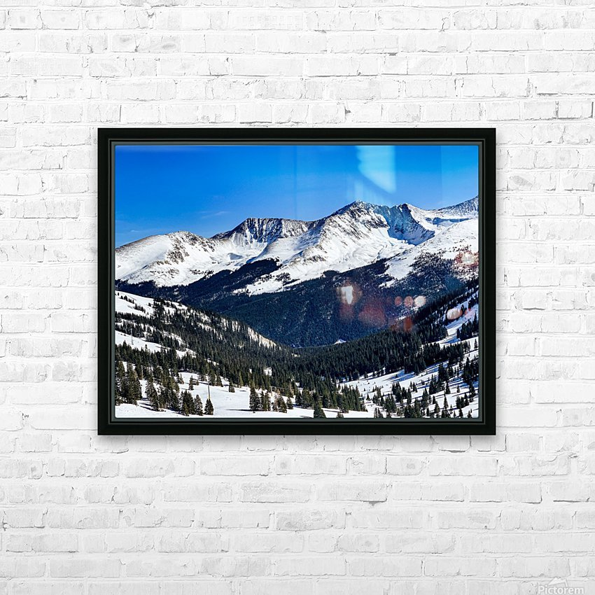 Copper Mountain HD Sublimation Metal print with Decorating Float Frame (BOX)