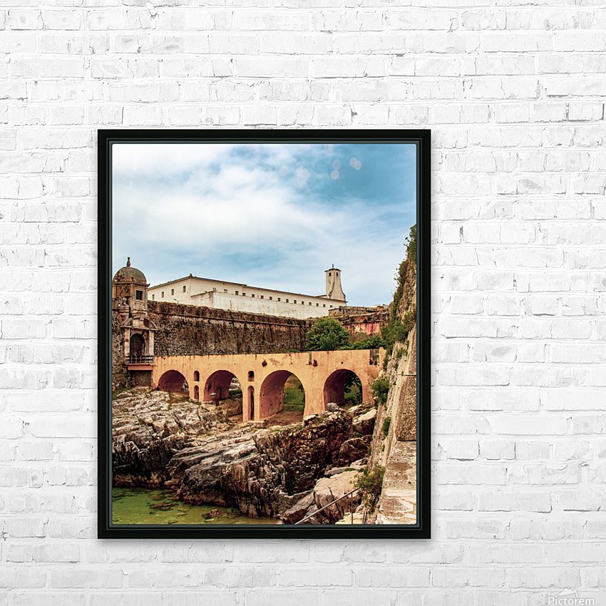 Fortaleza de Peniche HD Sublimation Metal print with Decorating Float Frame (BOX)
