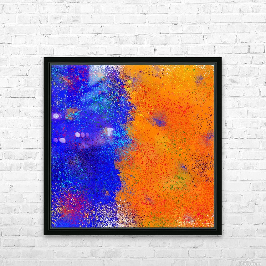 Seisnahorra - orange and blue balanced freedom HD Sublimation Metal print with Decorating Float Frame (BOX)