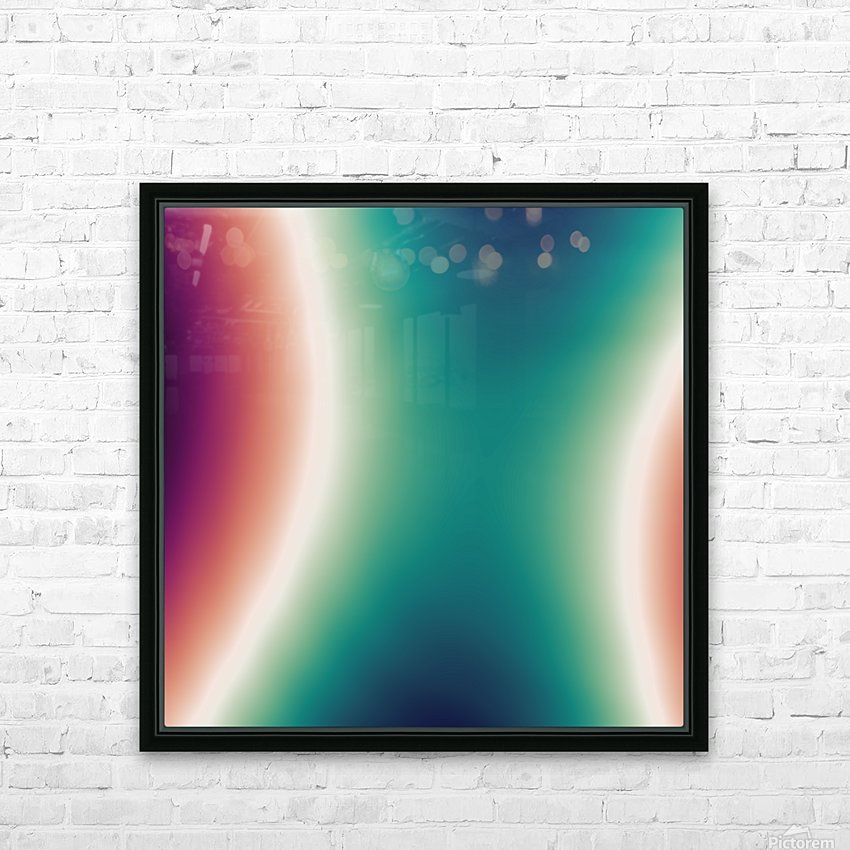 COOL DESIGN  (4) HD Sublimation Metal print with Decorating Float Frame (BOX)