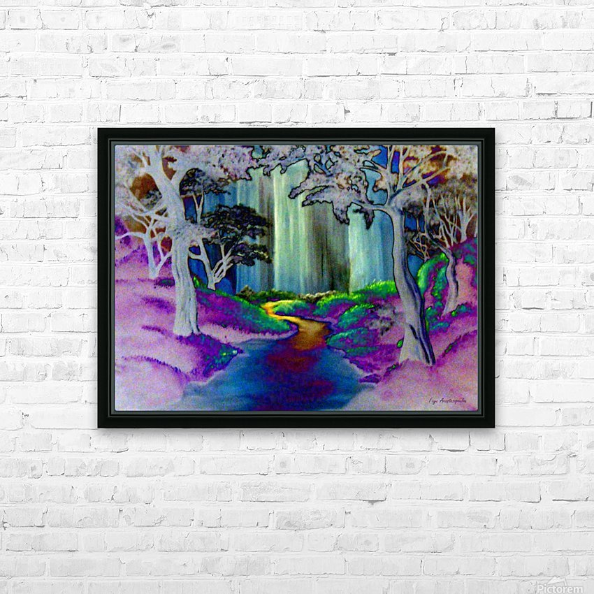 Forest Magic HD Sublimation Metal print with Decorating Float Frame (BOX)
