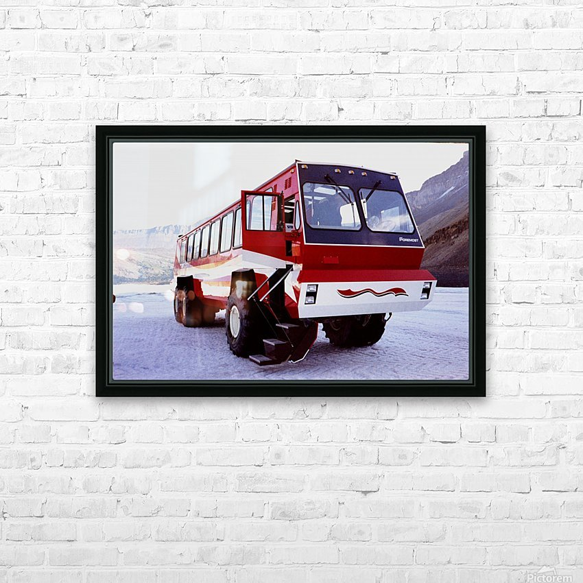 Snow Coach To The Columbian Ice Fields - Canada HD Sublimation Metal print with Decorating Float Frame (BOX)