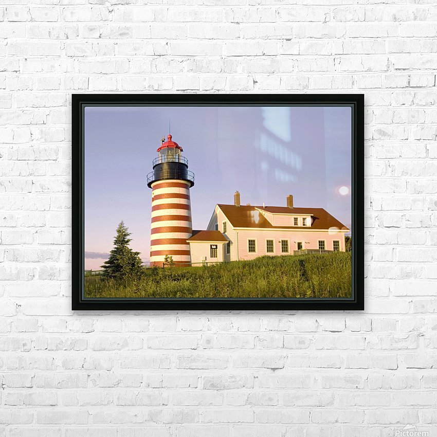 Dawn At Quoddy Head Light HD Sublimation Metal print with Decorating Float Frame (BOX)