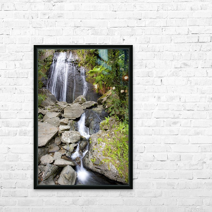 El Junque Waterfall HD Sublimation Metal print with Decorating Float Frame (BOX)