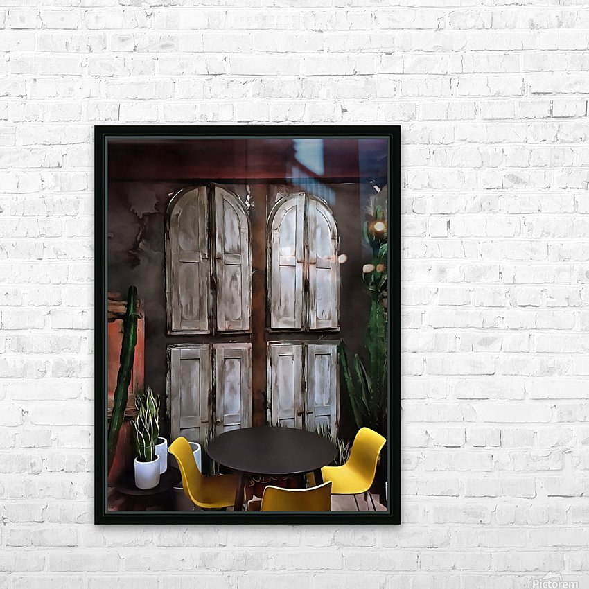 Life Behind Closed Shutters HD Sublimation Metal print with Decorating Float Frame (BOX)