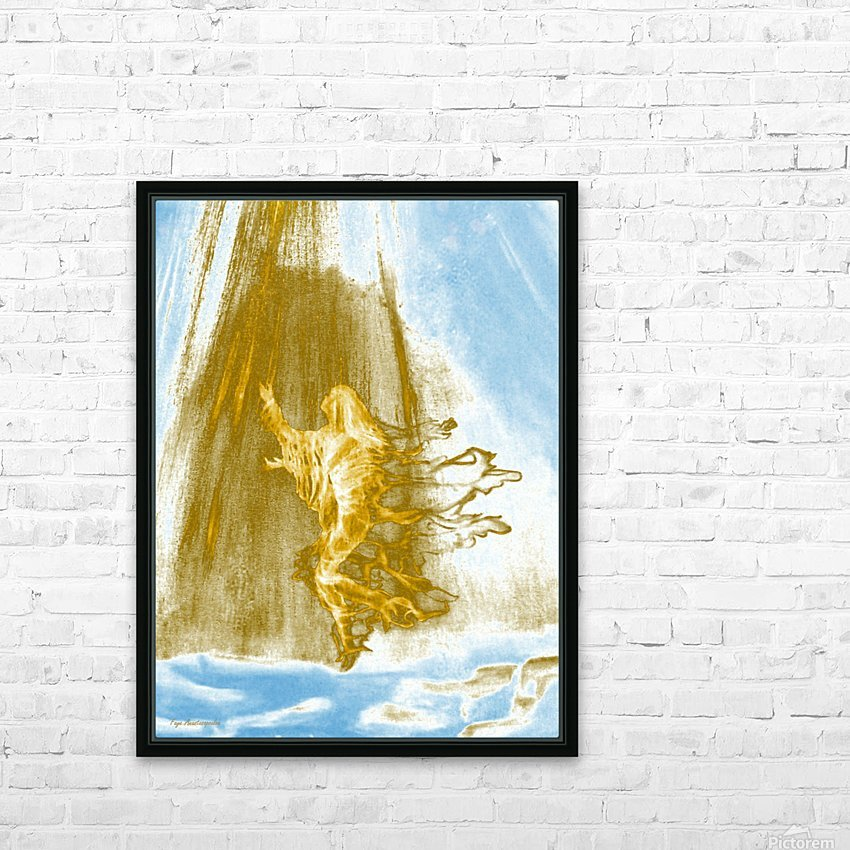 Ascending Angel HD Sublimation Metal print with Decorating Float Frame (BOX)