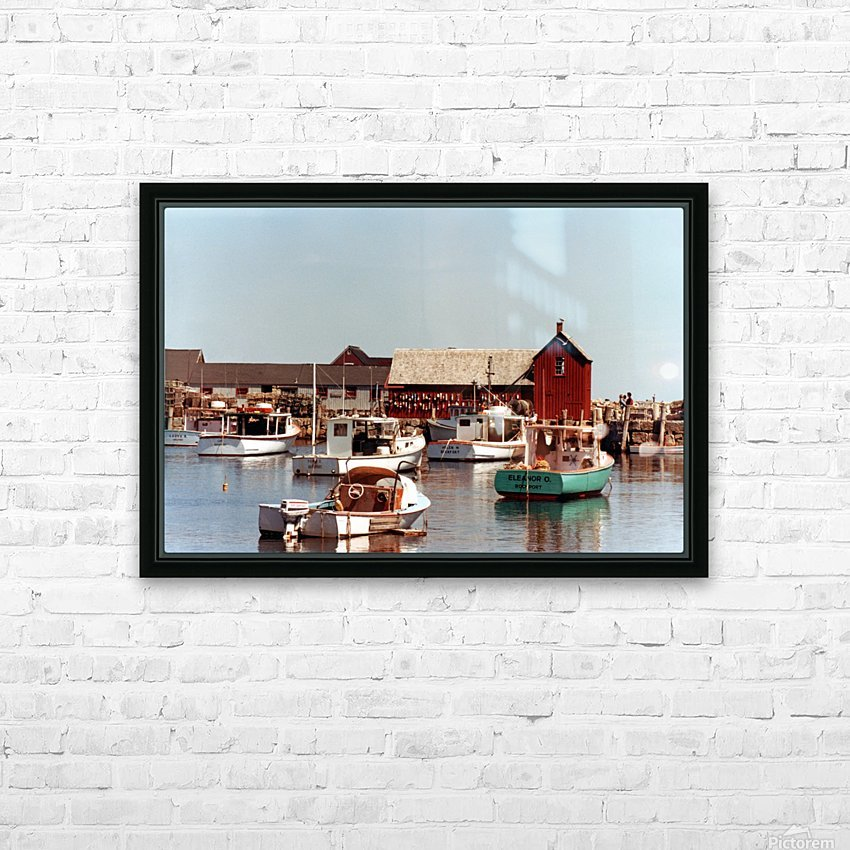 rockport retouched HD Sublimation Metal print with Decorating Float Frame (BOX)