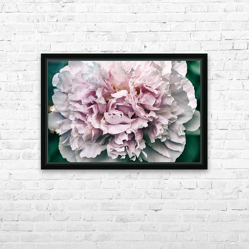 Peony HD Sublimation Metal print with Decorating Float Frame (BOX)