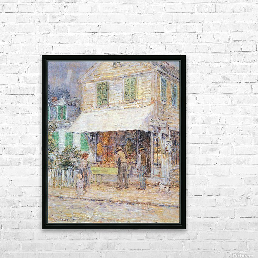 Provincial town by Hassam HD Sublimation Metal print with Decorating Float Frame (BOX)