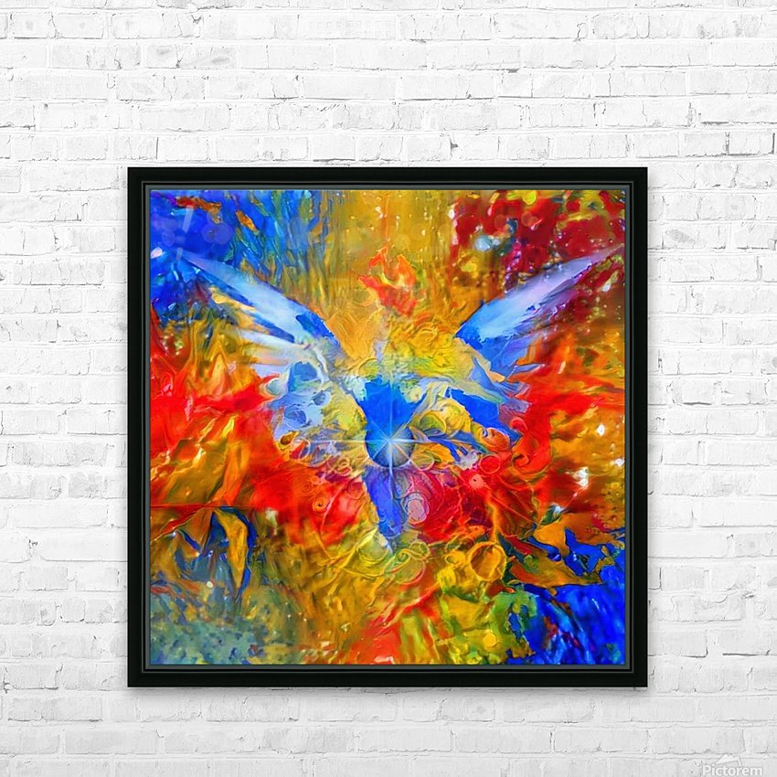 Flaming Eye of God HD Sublimation Metal print with Decorating Float Frame (BOX)