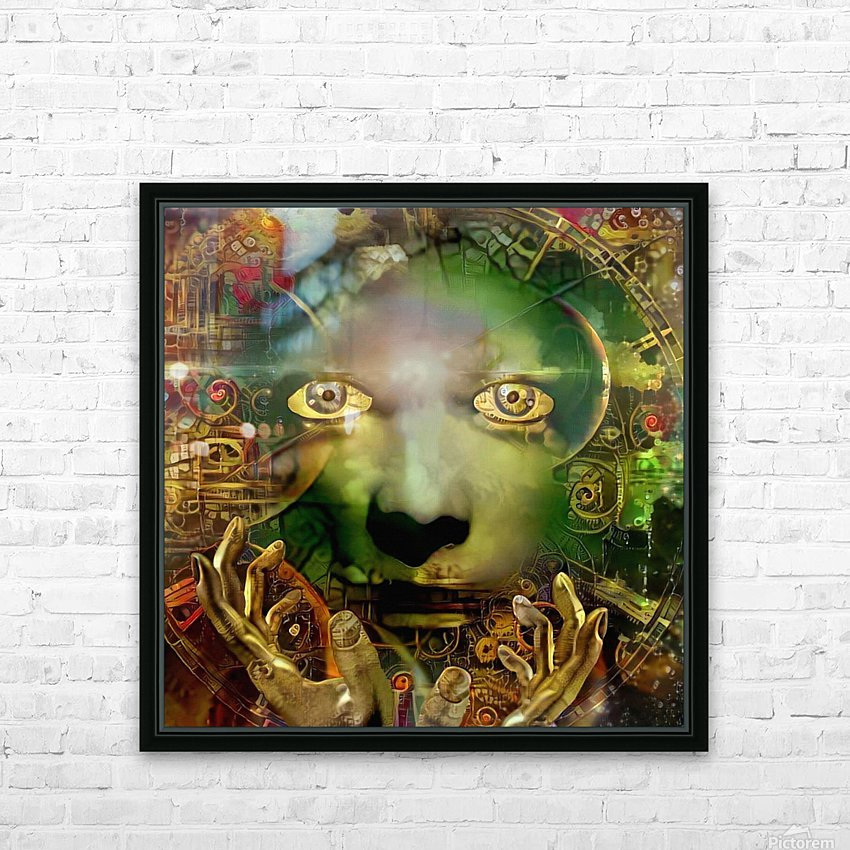 Abstract Face HD Sublimation Metal print with Decorating Float Frame (BOX)