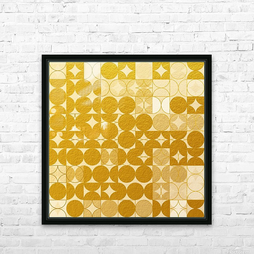 Geometric XIX v2 HD Sublimation Metal print with Decorating Float Frame (BOX)