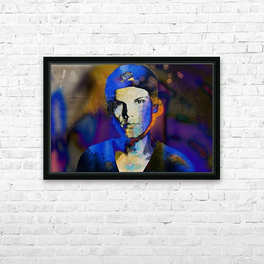 Avicii  Tim Bergling Abstract Portrait HD Sublimation Metal print with Decorating Float Frame (BOX)