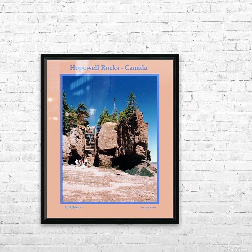 Hopewell Rocks - Canada HD Sublimation Metal print with Decorating Float Frame (BOX)