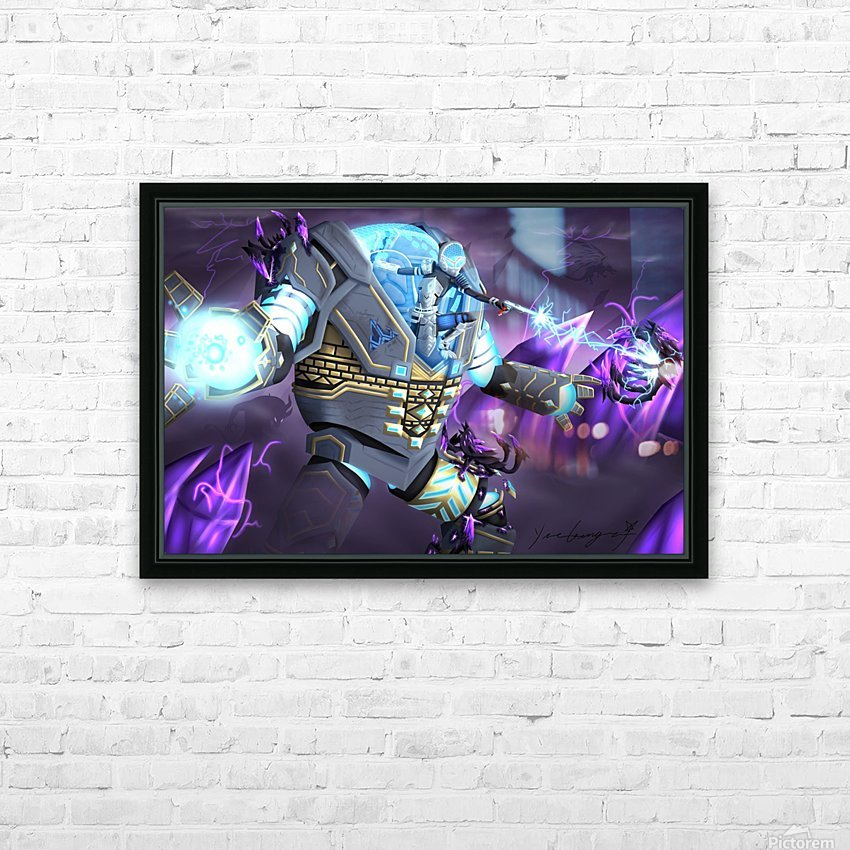 -Power Suit Fall- HD Sublimation Metal print with Decorating Float Frame (BOX)