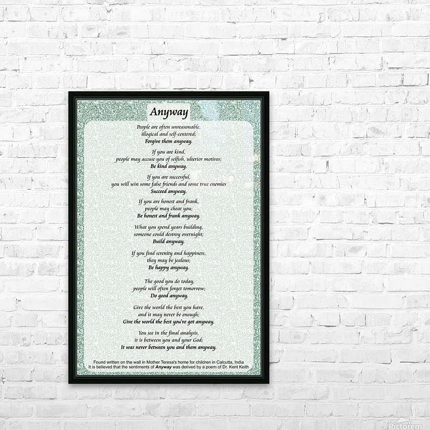 2-Anyway Poem HD Sublimation Metal print with Decorating Float Frame (BOX)