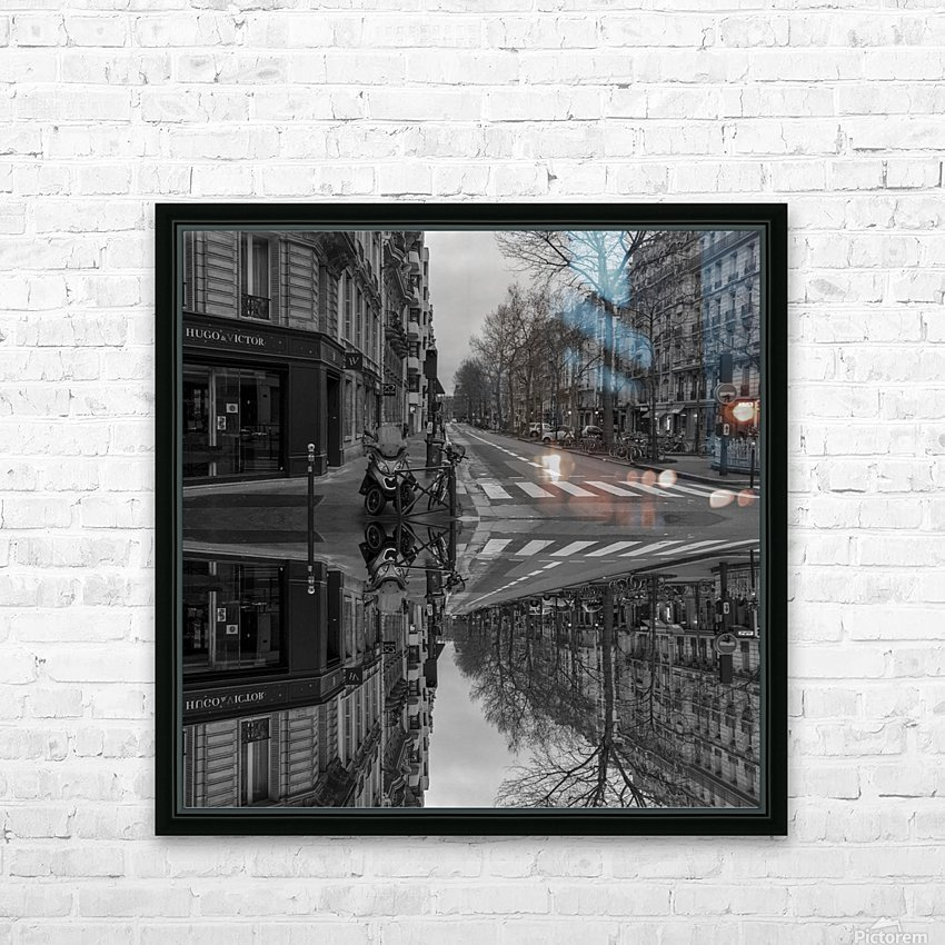 Paris - Street  2018 HD Sublimation Metal print with Decorating Float Frame (BOX)