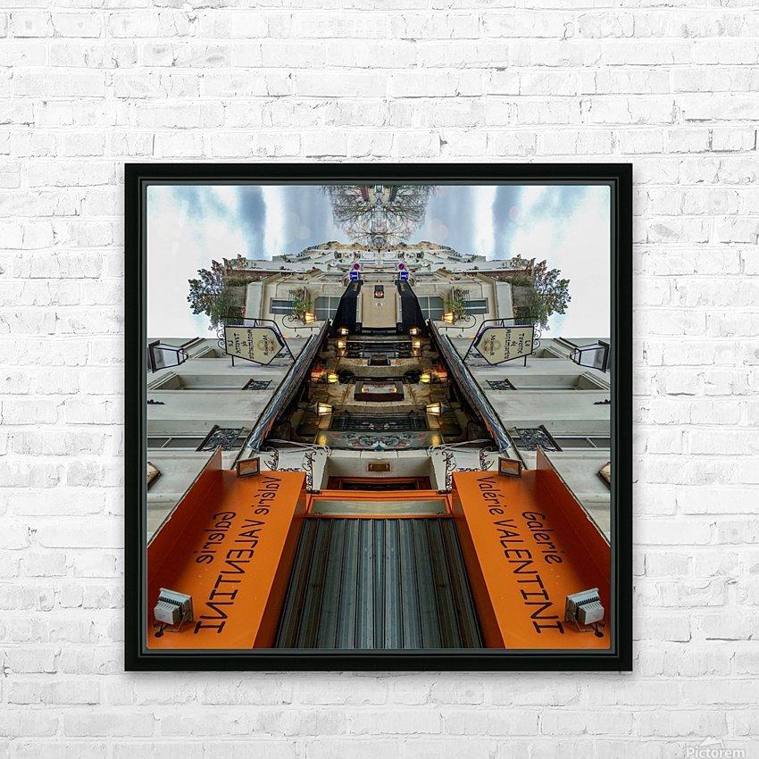 Paris - Rue Gabrielle HD Sublimation Metal print with Decorating Float Frame (BOX)