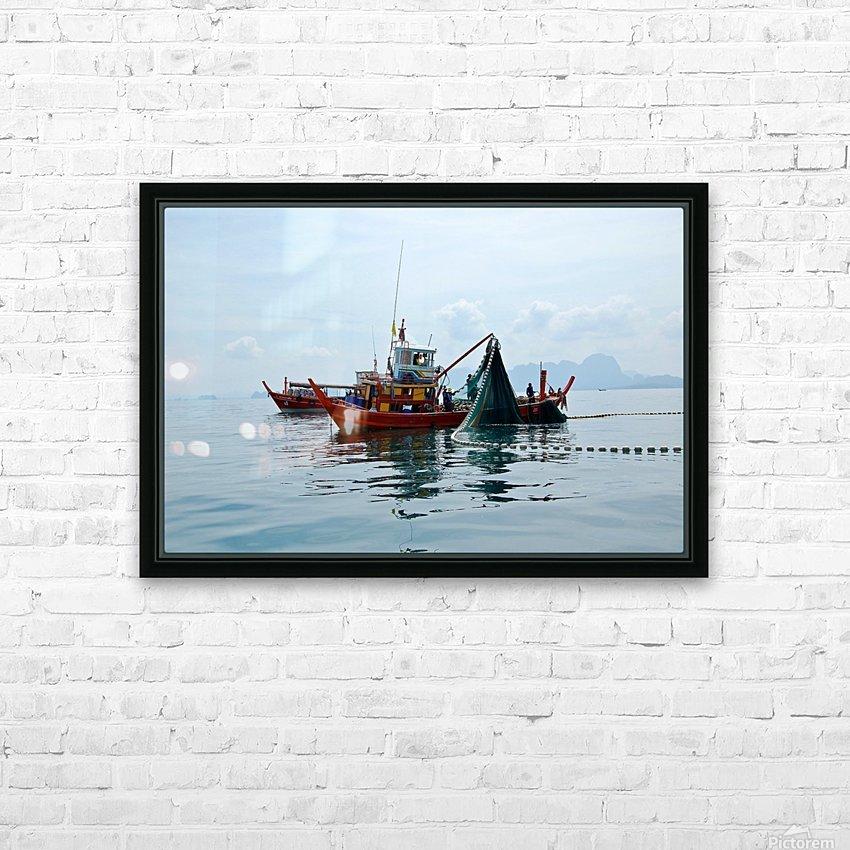 Bangkok - The Fisherman HD Sublimation Metal print with Decorating Float Frame (BOX)