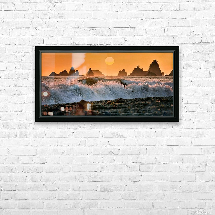 Sea Stacks at Rialto Beach HD Sublimation Metal print with Decorating Float Frame (BOX)
