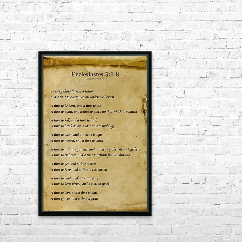 2-Ecclesiastes 3:1-8 HD Sublimation Metal print with Decorating Float Frame (BOX)