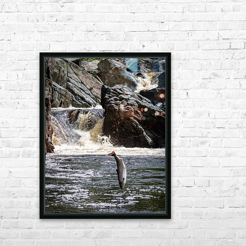 Leaping Silver  HD Sublimation Metal print with Decorating Float Frame (BOX)