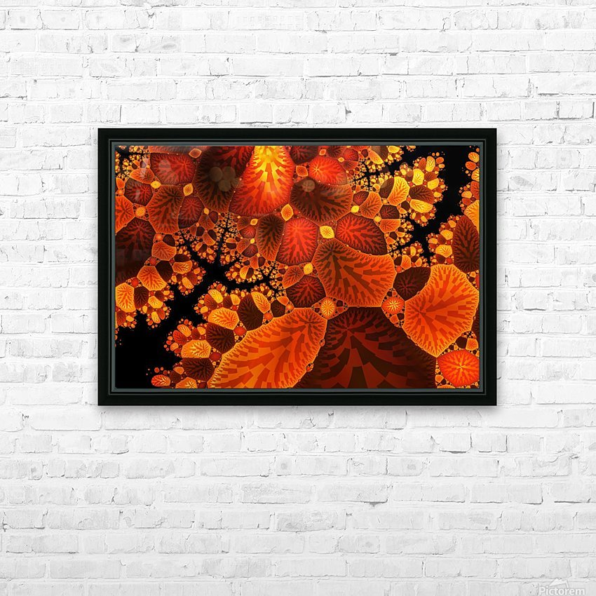 leaf autumn nature background HD Sublimation Metal print with Decorating Float Frame (BOX)