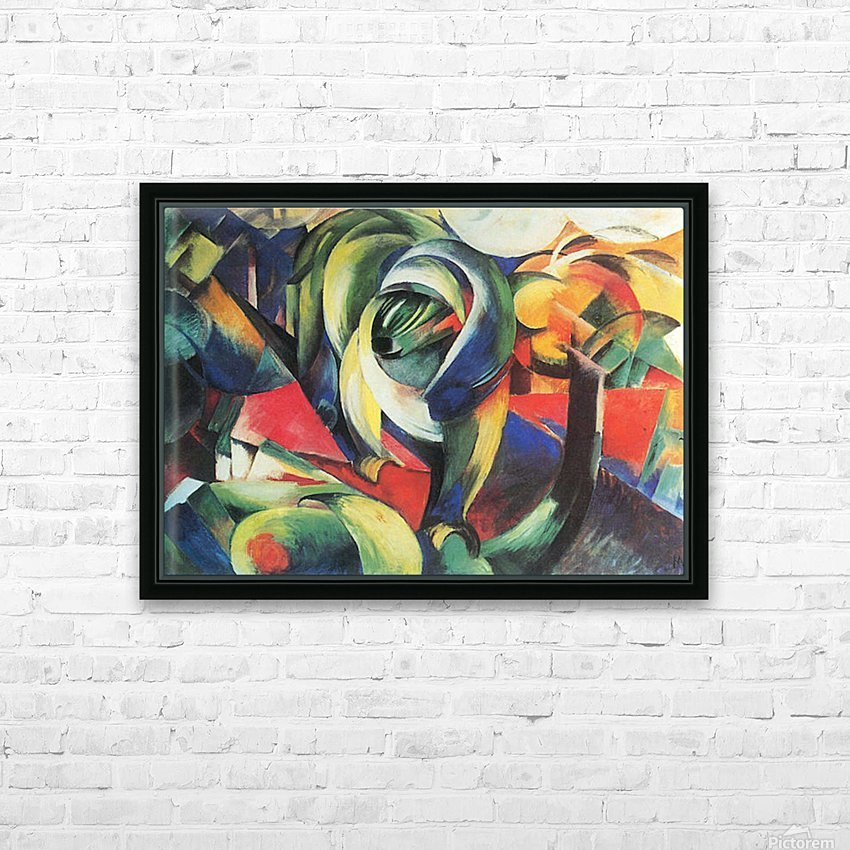 The Mandrill by Franz Marc HD Sublimation Metal print with Decorating Float Frame (BOX)