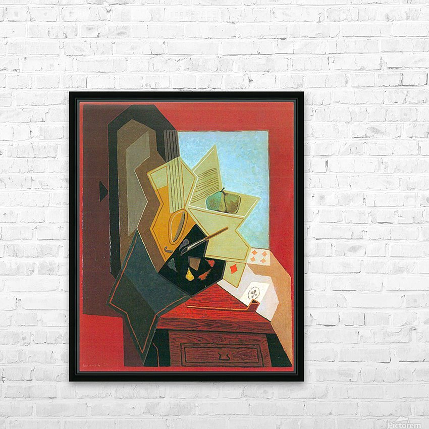 The window of the painter by Juan Gris HD Sublimation Metal print with Decorating Float Frame (BOX)