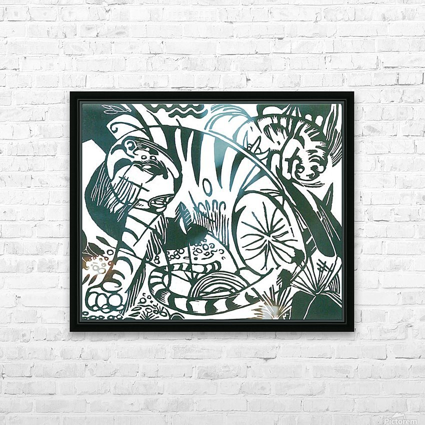 Tiger -2- by Franz Marc HD Sublimation Metal print with Decorating Float Frame (BOX)